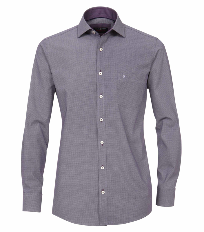 Casa Moda Overhemd mini print lila