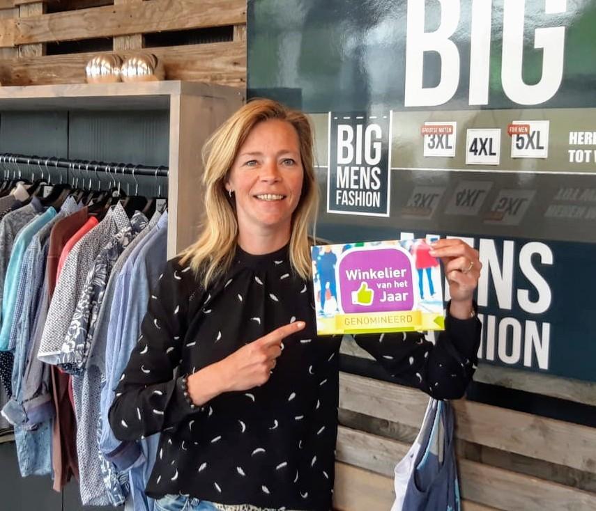 Winkelier van het jaar | Bigmensfashion genomineerd
