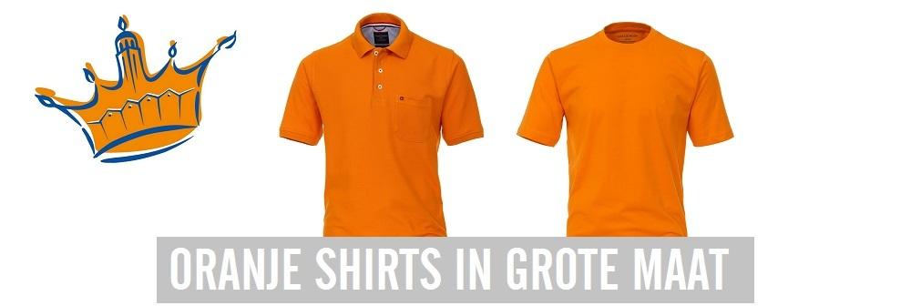 Oranje shirts grote maat