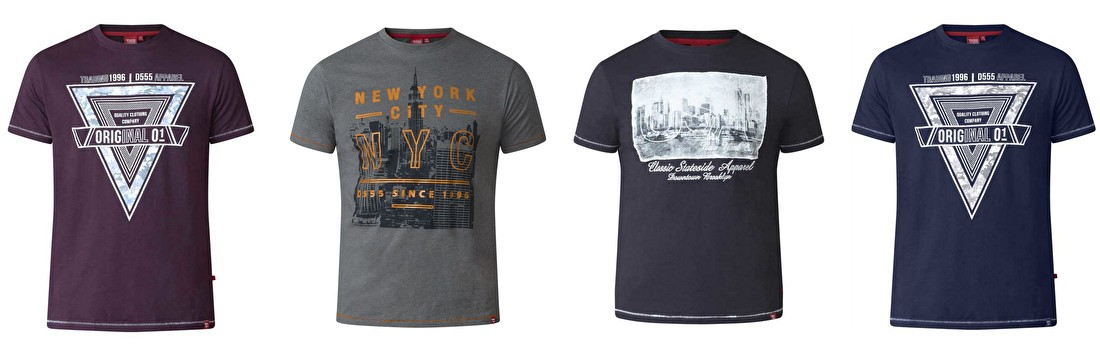 Grote maten t-shirts voor heren