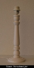 Lampenvoet wit hout 35cm