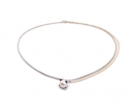 Zilveren collier met parels