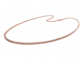 Rosegouden jasseron collier 2mm