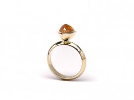 Geelgouden ring met spessartien
