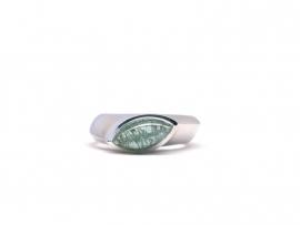 Zilveren ring met navet toermalijn