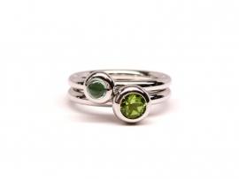 Zilveren ring met peridoot