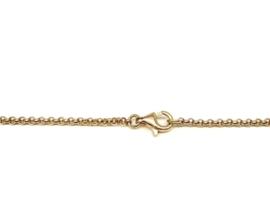 Geelgouden jasseron collier 2mm