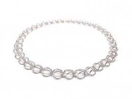 Zilver van draad vervaardigd collier