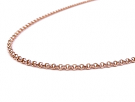 Rosegouden jasseron collier 2mm