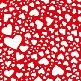 witte hartjes op rood