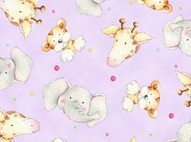 Cuddle Time - beestenkopjes op lila