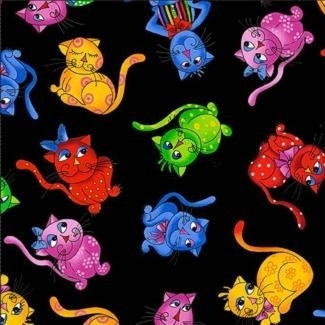 Cool Cats - katten op turquoise