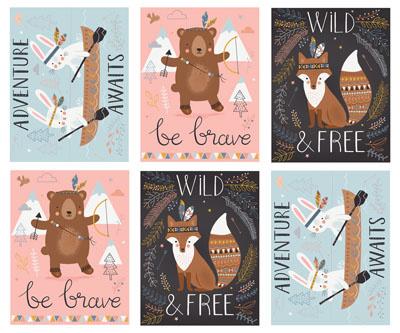 Wild & Free - verspreide figuurtjes