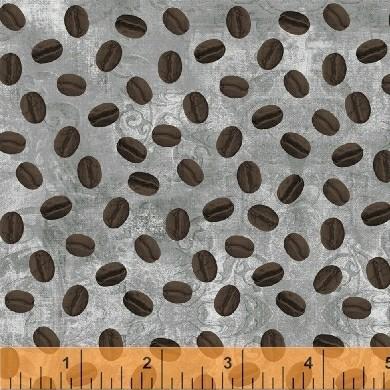 koffieboontjes op grijze ondergrond