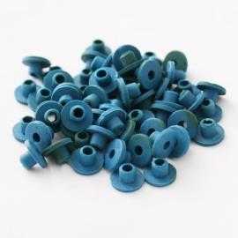 *Tijdelijk Uitverkocht* Tattoo machine rubber nipples Blauw 100 stuks (Soft)