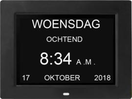 Leagwhar dementie kalenderklok zwart