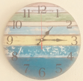Stille Wandklok ''Brighton Beach'' - 30 cm
