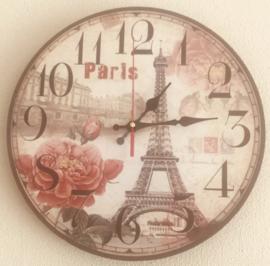 Stille Wandklok ''Eiffel Paris'' - 30 cm
