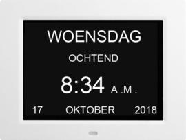 Leagwhar dementie kalenderklok wit