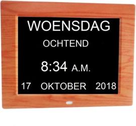 Leagwhar dementie kalenderklok hout