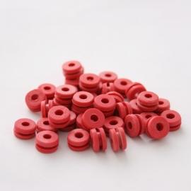 Tattoo machine rubber grommets Roze 100 stuks