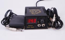 Tattoo Digitale Power Supply met clipcord en voetpedaal