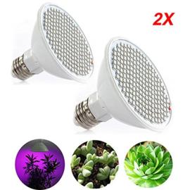 Kweeklamp Duo Verstelbaar LED Groeilamp Bloeilamp Paneel 2x 12 watt