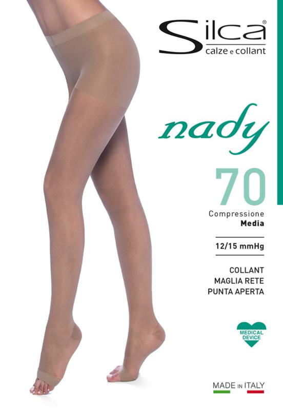Nady 70 panty met open teen.