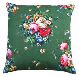 *Vintage* Green Floral Cushion