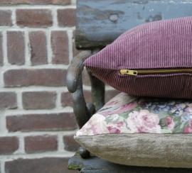 Plum Cord Cushion