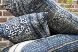 Indigo Tribal Blockprint Cushion