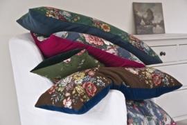 *VINTAGE* XL Jade Floral Cushion