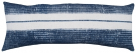 Indigo Tribal Stripe Cushion