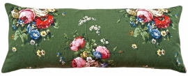 *VINTAGE* XL Green Floral Cushion