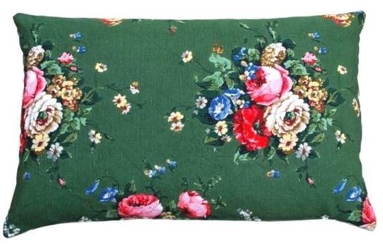 *Vintage* Green Floral Cushion