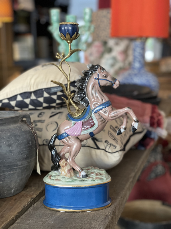 Candle holder horse