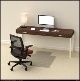 Tenex Bureaustoelmat 91 cm* 122 cm : voor harde vloeren