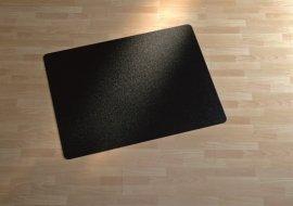 Bedrukte zwarte bureaustoelmat 90 * 120 cm