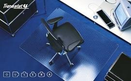 Bureaustoelmat voor zachte  vloeren Makrolon ®