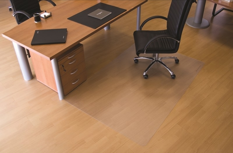 Bureaustoelmat voor harde  vloeren Makrolon ®