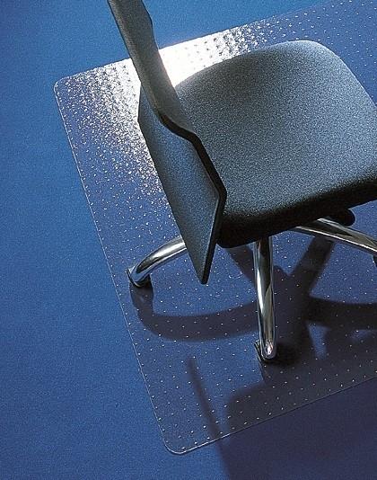 Bureaustoelmat 120 x 150 cm :voor zachte  vloeren Makrolon ®