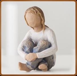 Meisje zittend: Spirited Child