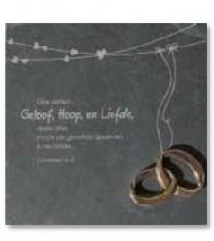 Leisteen met tekst en bronzen ringen