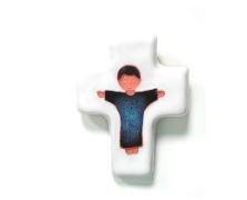 Kinderkruisje met afbeelding van Jezus