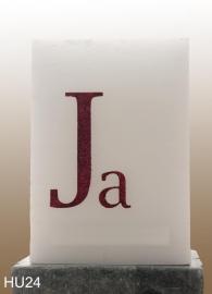 grote vierkante kaars met Ja