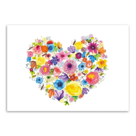 Een hart vol bloemen