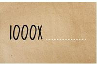 Enkele kaart 1000X......