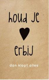 Enkele kaart Houd je hart...