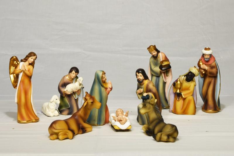 Kerstbeeldjes polystone