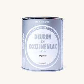 Hermadix  Deuren en Kozijnenlak RAL 9010 750 ml